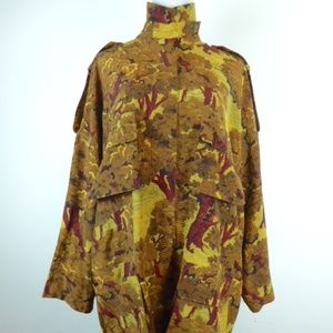 VTG ELLEN TRACY LAGENLOOK FLORAL SILK JACKET 10